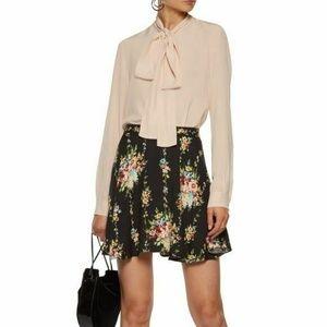 Alice + Olivia 'Blaise' Floral Crepe Mini Skirt